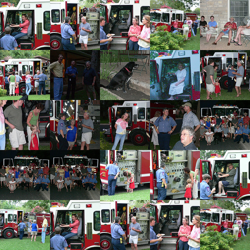 2005 Neighbors Night Out on Briargrove Drive Collage